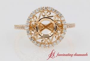 Filigree Halo Ring Settings