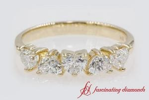 1 Ct. Five Stone Heart Diamond Band