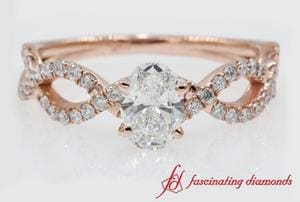 Oval Shaped Infinity Diamond Ring