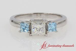 Princess Cut 3 Stone Diamond Ring