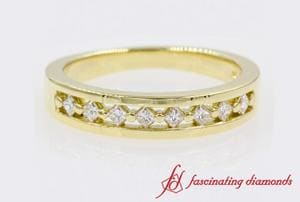 Princess Cut Anniversary Band In 18K Yellow Gold