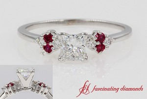 Cluster Diamond Ring With Ruby