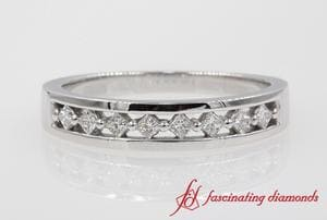 Princess Cut Diamond Bridal Anniversary Band In White Gold