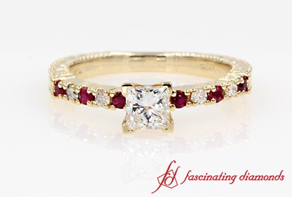 Petite Ring With  Ruby
