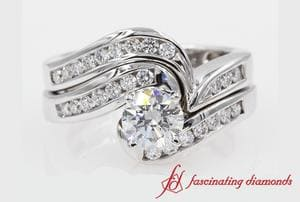 Diamond Twisted Channel Bridal Set