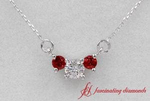 Round Diamond Pendant For Women