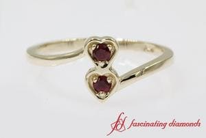 Ruby 2 Stone Promise Ring