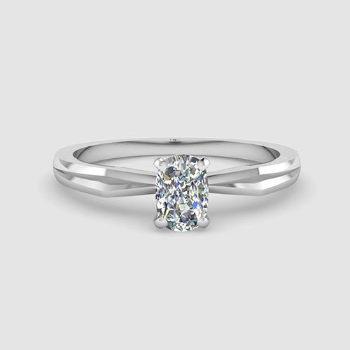 Cushion Cut Solitaire Engagement Rings