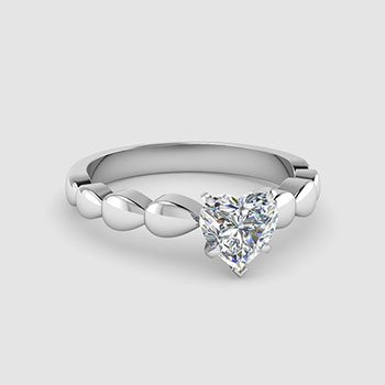 Heart Cut Solitaire Engagement Rings