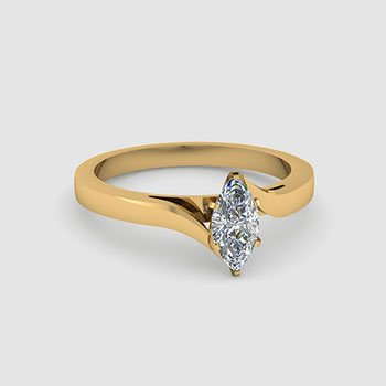 Marquise Cut Solitaire Engagement Rings