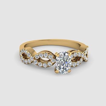 Cushion Cut Split Shank Engagement Rings