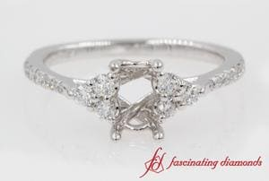 Semi Mount Petite Cathedral Ring