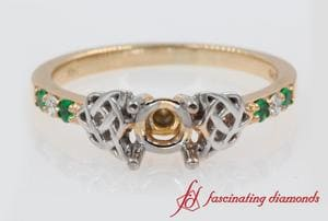 Semi Mount Celtic Ring