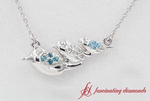 Three Bird Diamond Necklace