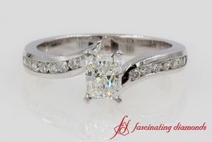 Twist Channel Radiant Diamond Ring