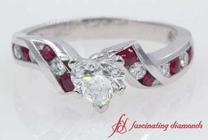 Twisted Ruby Engagement Ring