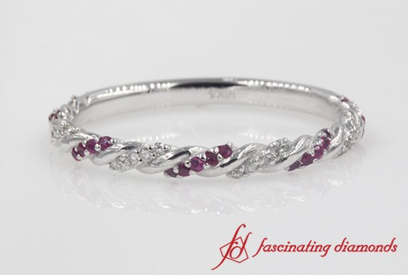 Twisted Vine Wedding Band
