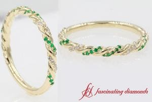 Twisted Vine Diamond Wedding Band