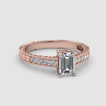 Emerald Cut Vintage Engagement Rings