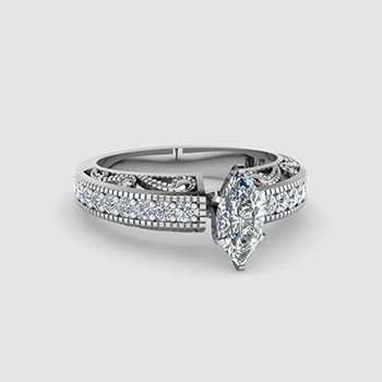 Marquise Cut Vintage Engagement Rings