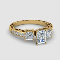 Radiant Shaped Vintage Engagement Rings
