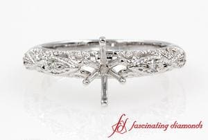 Victorian Ring Settings In White Gold