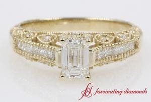Emerald Cut Vintage Diamond Rings
