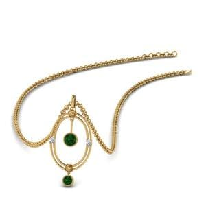 Bezel Set Emerald Pendant
