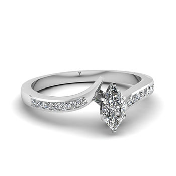 0.75 Carat Marquise Cut Diamond Engagement Rings