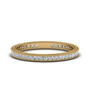 0.50 Ct. Antique Channel Diamond Eternity Band