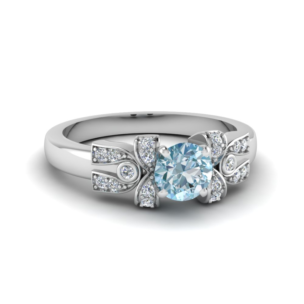 Antique Design aquamarine Ring