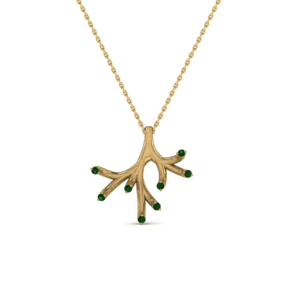 Emerald Branch Pendant