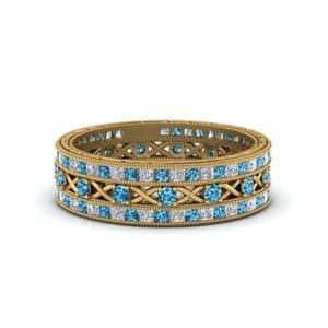 Trio Blue Topaz Stacking Bands