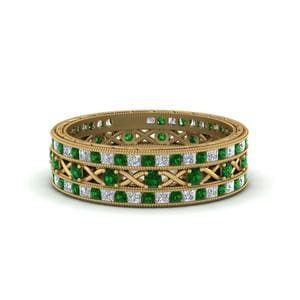Antique Emerald Stackable Bands
