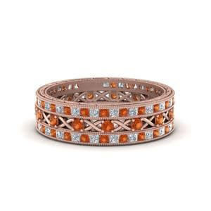 Orange Sapphire Stackable Band