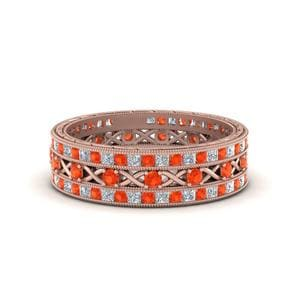 Orange Topaz Stackable Bands