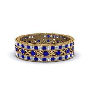Antique Sapphire Stackable Bands
