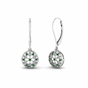 Emerald Womens Dangle Earring