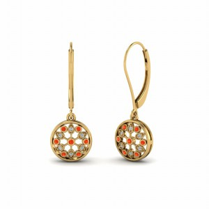 Orange Topaz Earring