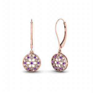 Purple Topaz Dangle Earring