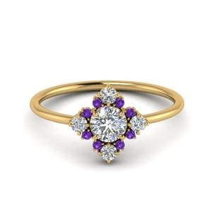 Cluster Purple Topaz Ring