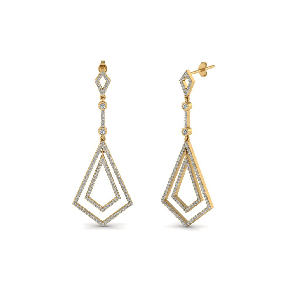 Art Deco Diamond Dangle Earring