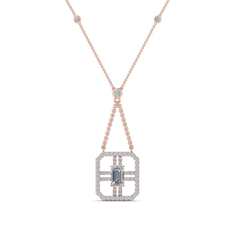Art Deco Emerald Cut Pendant
