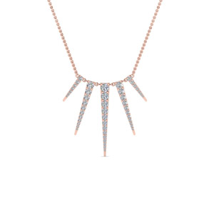 Art Deco Graduated Diamond Necklace In 14K Rose Gold