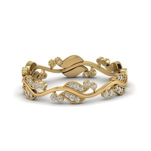 Art Nouveau Diamond Anniversary Band In 14K Yellow Gold