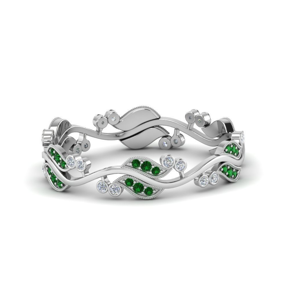 Art Nouveau Diamond mom Anniversary Band
