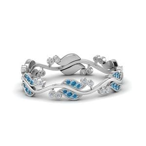 0.50 Ct. Art Nouveau Blue Topaz Band