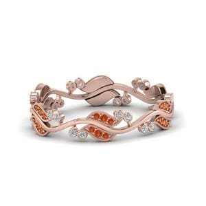 Nature Inspired Orange Sapphire Band