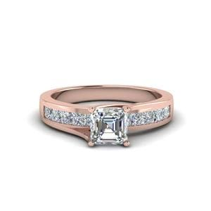 Channel Set Trellis Diamond Ring