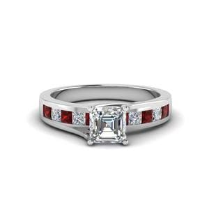 Trellis Channel Set Ruby Ring